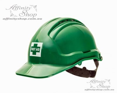 First Aid Hard Hat Vented Tuffguard Force360 Australian Made Helmet HPFPR57FA