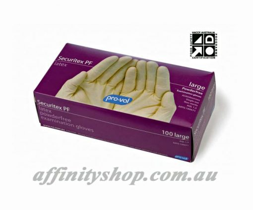 disposable latex gloves securitex pf pro val box