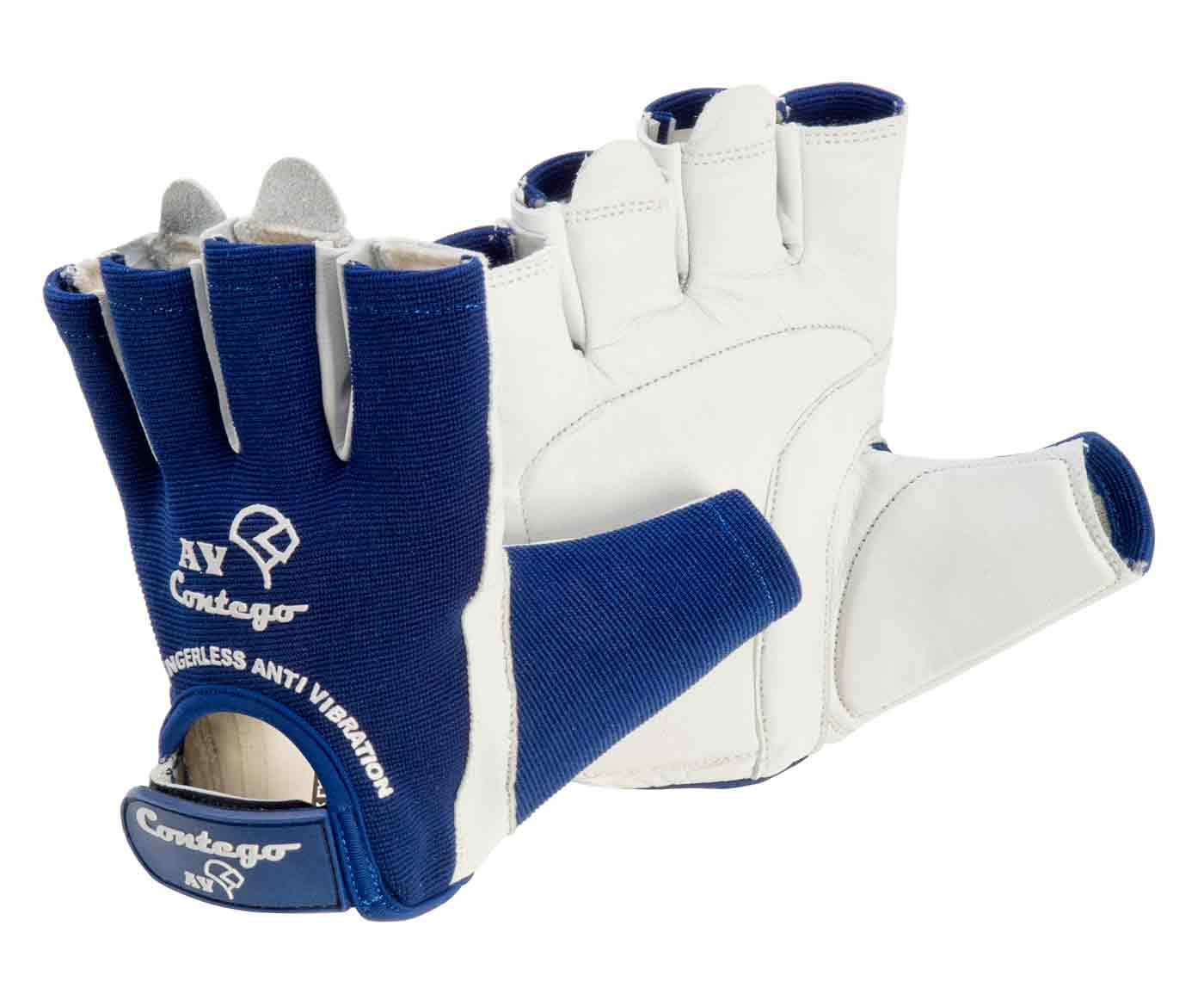 fingerless anti vibration contego work safety gloves