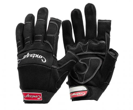 semi fingerless contego work safety gloves