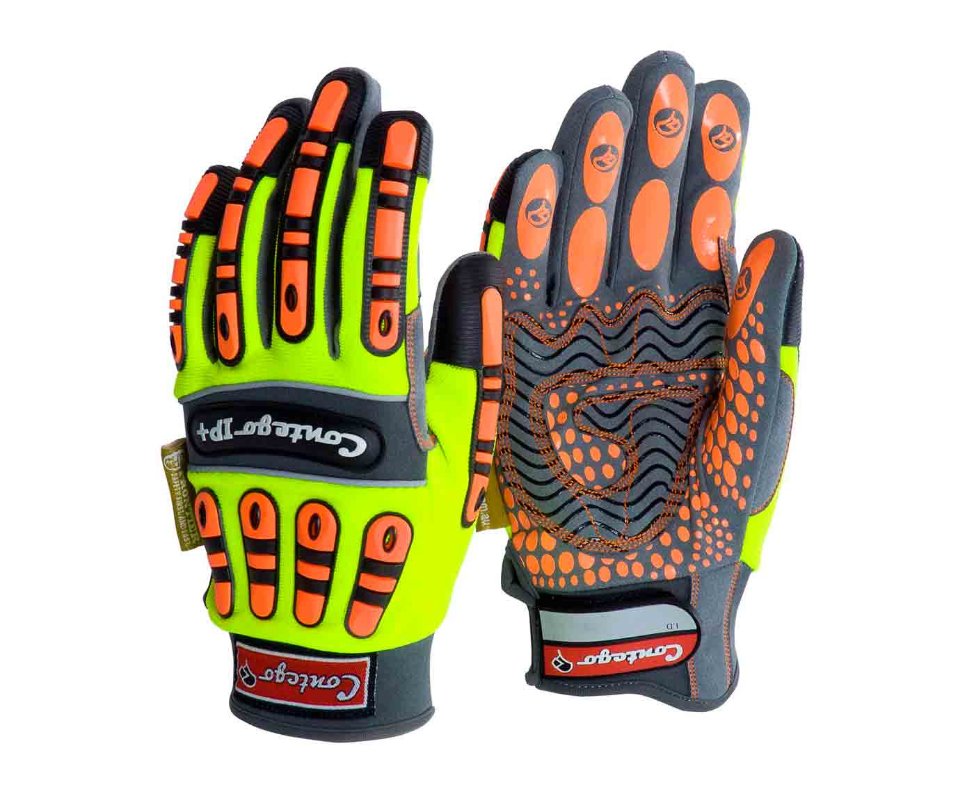Contego Impact Protection Hi Vis Mechanics Work Gloves IP+ P8274HV