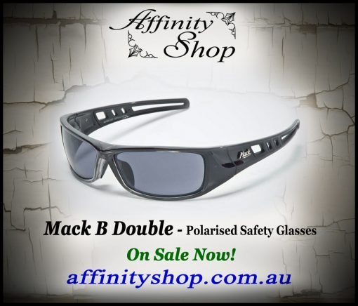 mack b double polarised safety glasses me503
