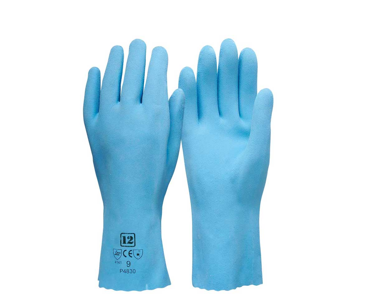 food pro latex cotton liner gloves