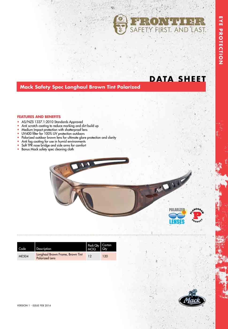 Mack Longhaul Safety Glasses Online