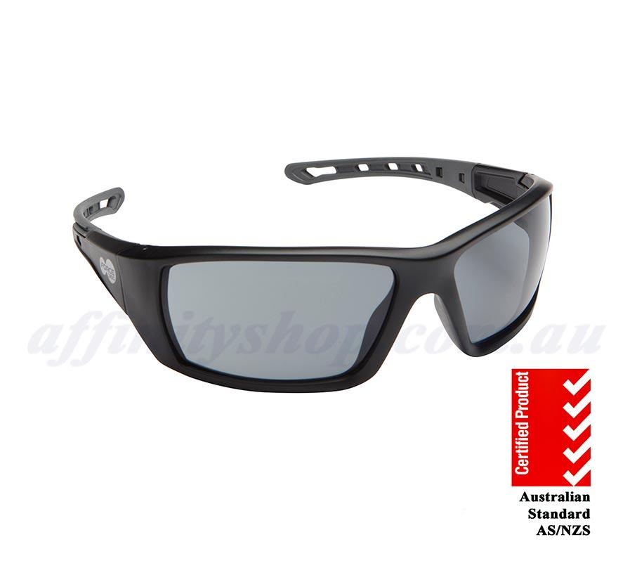 8d4146fefdd94 Mirage Polarized Black Force360 Safety Glasses Buy Work Sunglasses au