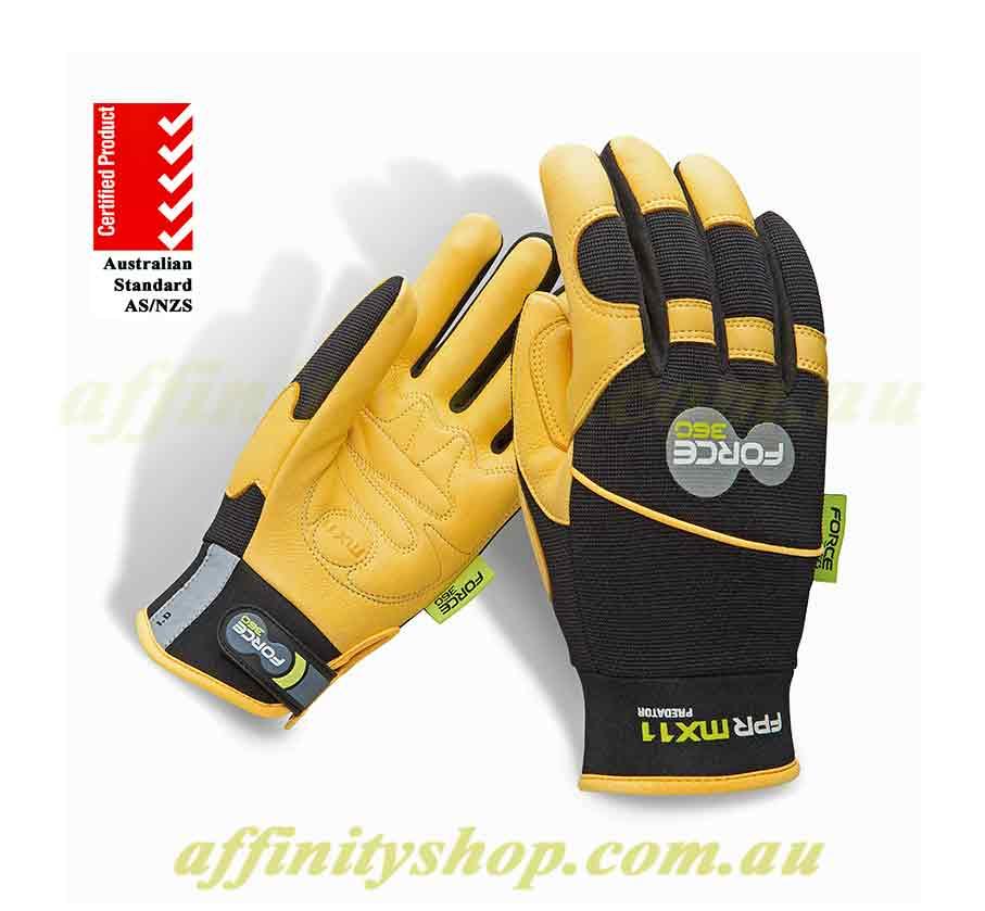 force360 predator leather mx11 mechanics work gloves fprmx11