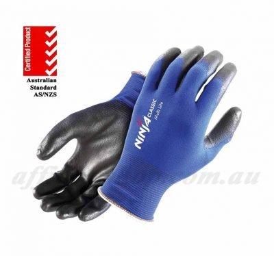 ninja lite work gloves p4003 gripx blue nimltlitebl