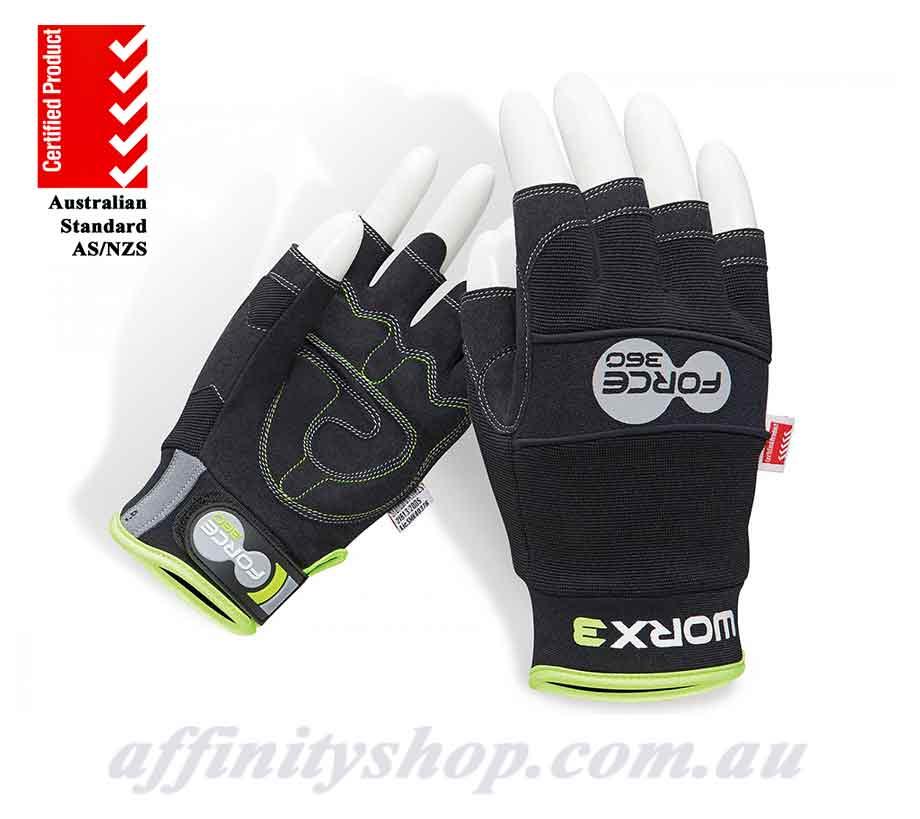 fingerless gloves force360 mechanics work glove worx3