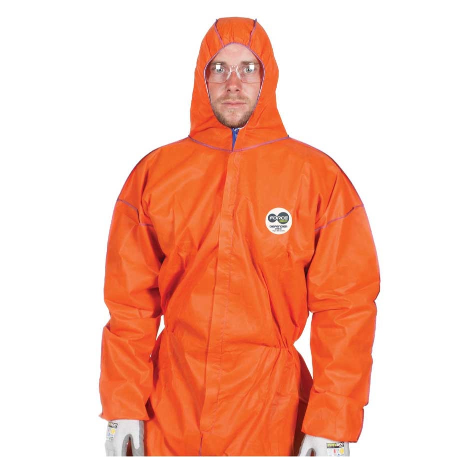5x Force360 Defender Disposable Coveralls CFPR181 Orange Safety Suit AS//NZS Cert
