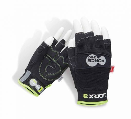 Fingerless Gloves Worx3 Force 360 Safety Glove PPE