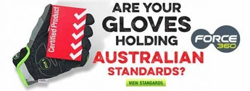 force 360 safety glove australian standards tick tower