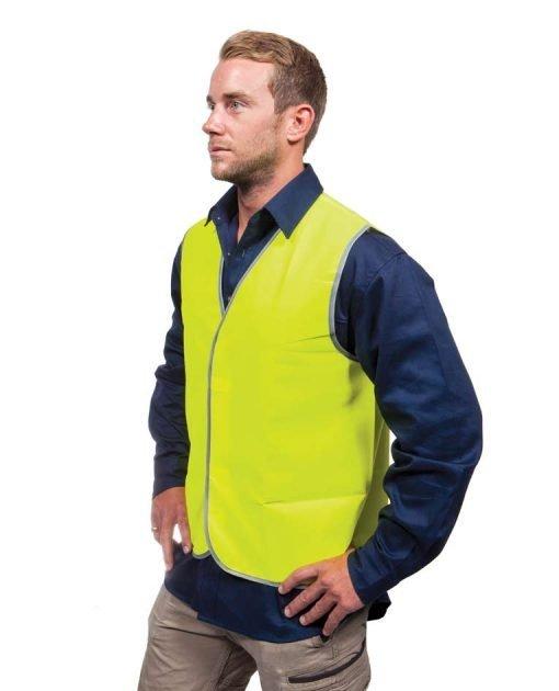 Work Vest Fluro Yellow Day Vest CWRX191