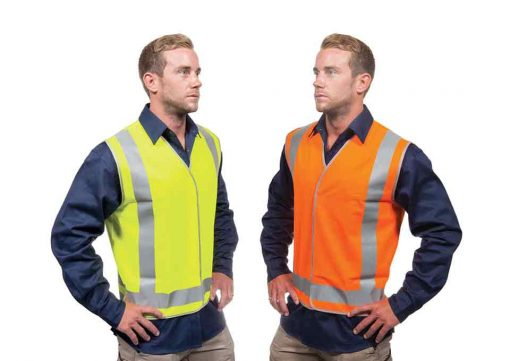 Safety Vest Hi Vis Yellow Orange Work Force 360 CWRX