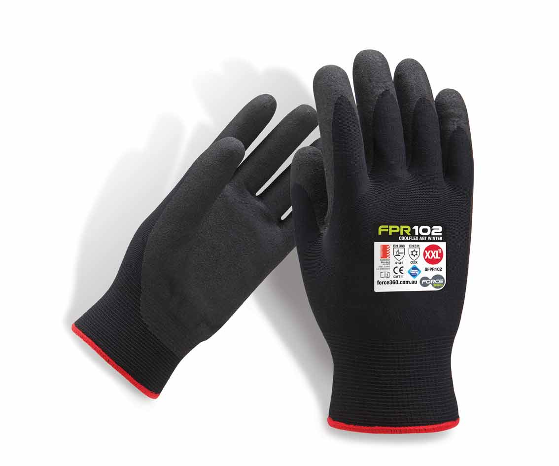 Winter Gloves Force360 Coolflex AGT Winter Lined Work Glove FPR102