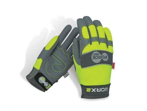 Worx2 Hi Vis Gloves Original Mechanics Force360 Safety