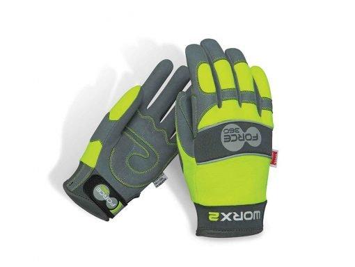 Worx2 Hi Vis Gloves Original Mechanics Force360 Safety