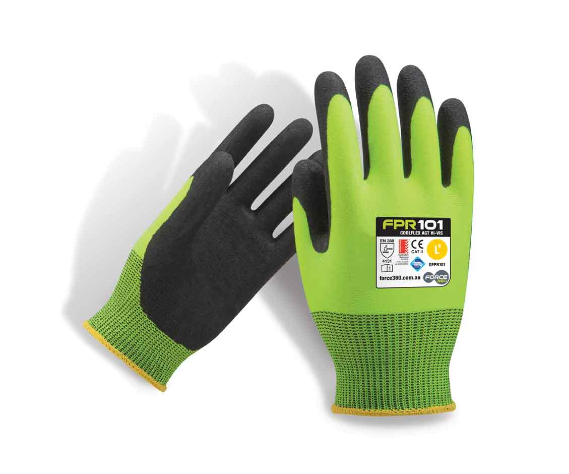 Coolflex Hi Vis Work Gloves AGT-Force360 Safety GFPR101