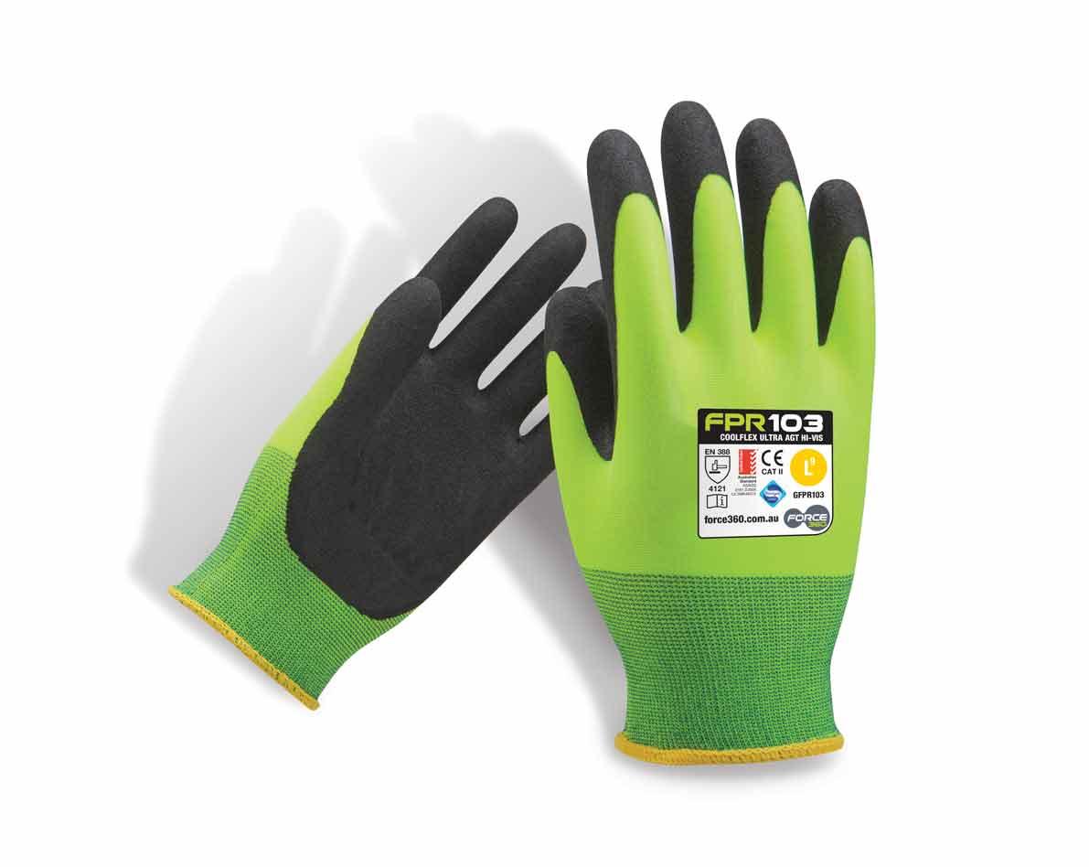 Coolflex Ultra Hi Vis Work Gloves Force360 GFPR103