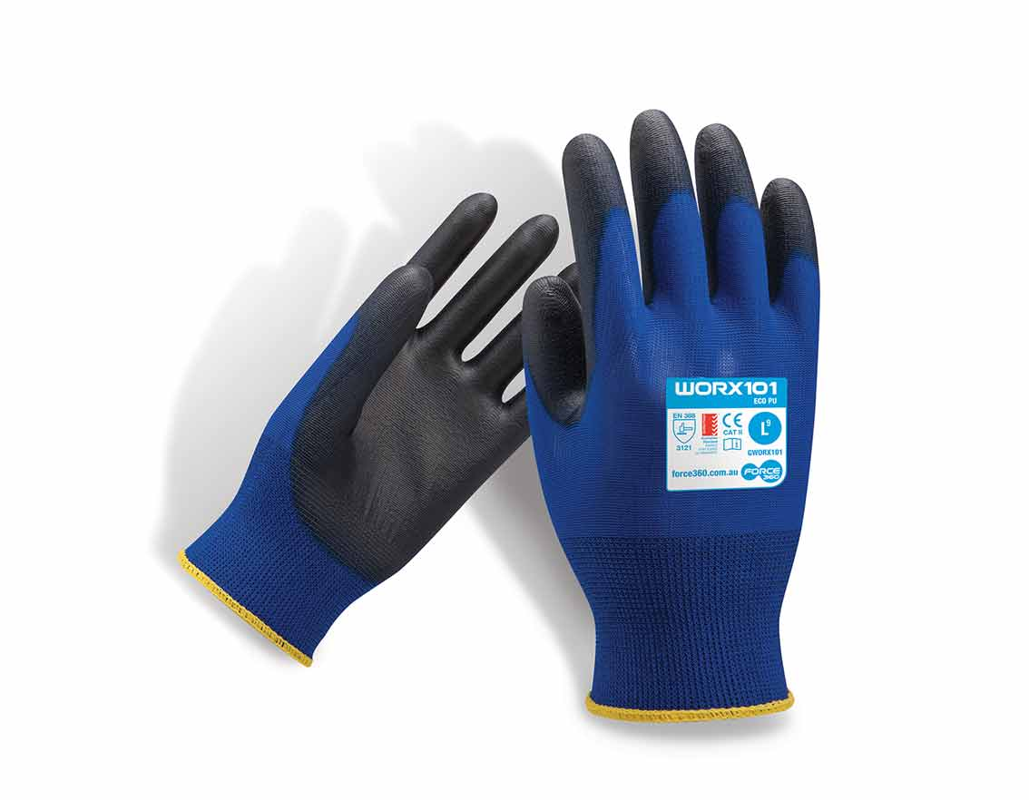 Force360 eco worx101 gloves nitrile work glove
