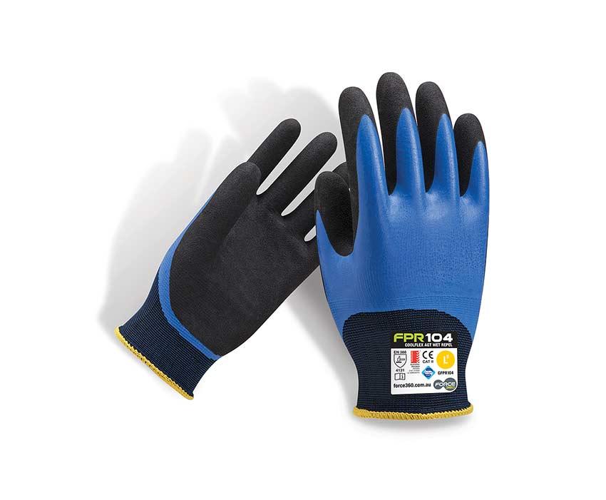 force360 wet repel gloves coolflex AGT nitrile FPR104