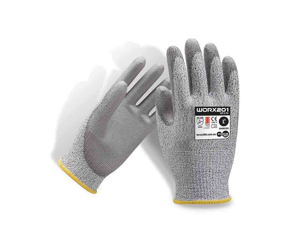 Fingerless gloves bunnings - Cut 5 Rated Work Gloves Buy Worx201 Online Force360 Pu Glove