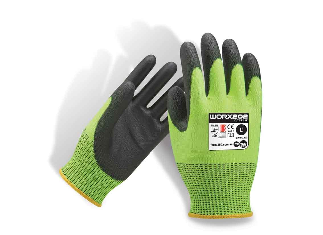 Cut 5 Hi Vis Work Gloves Force360 GWORX202