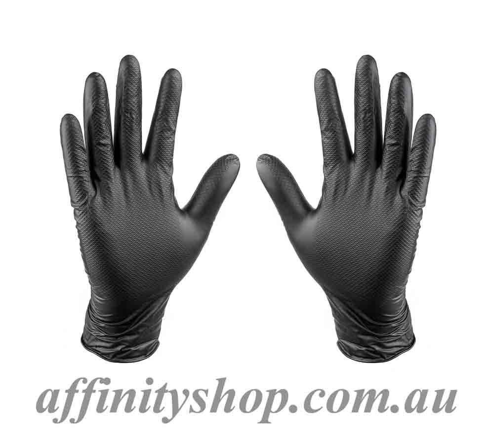 Black Nitrile Work Gloves Grippaz Disposable Mechanics Gloves GPAZB Frontier