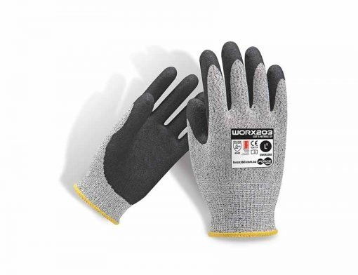 Cut Gloves Force360 Cut 5 Sand Nitrile Cut Rated Work Glove WORX203