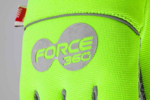 Storm Winter Hi Vis Back of Glove Force360 Logo