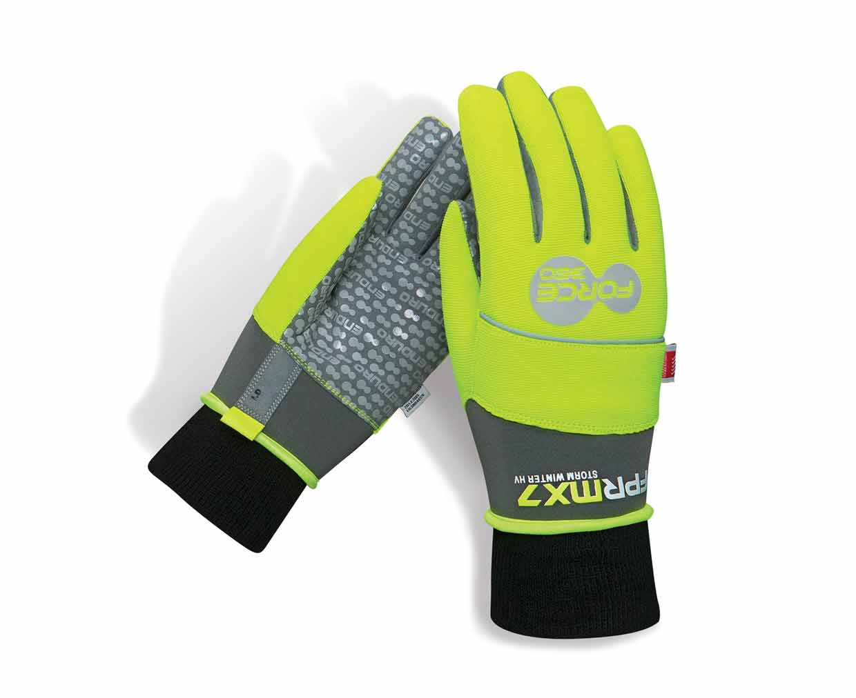 Storm Winter Hi Vis Work Gloves Force360 Safety FPRMX7