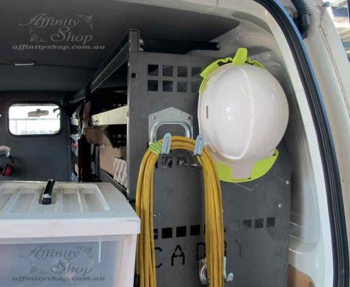 Hard Hat Storage Van Holder Hanging Idea white cap