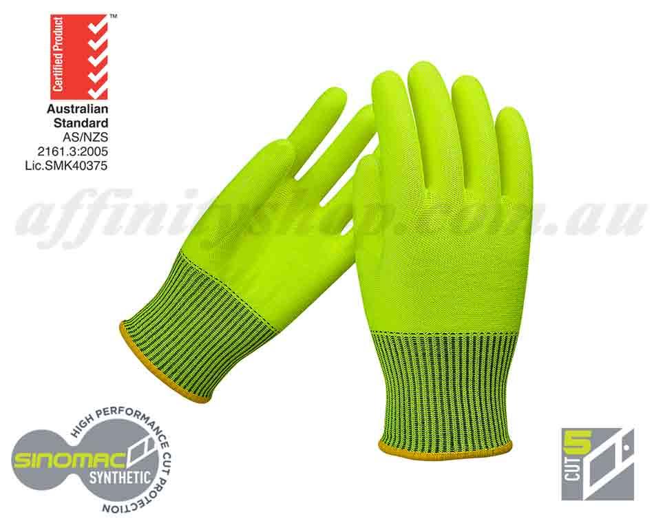 cut 5 gloves buy force360 work glove fpr206 fluro yellow