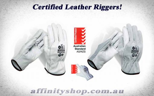 certified rigger gloves force360 leather riggers glove worx600