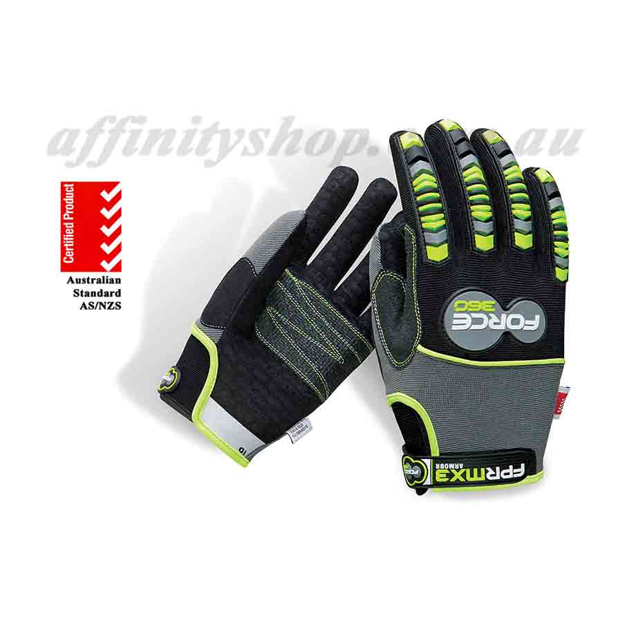 force360 armour work gloves mx3 impact protection mechanics gfprmx3
