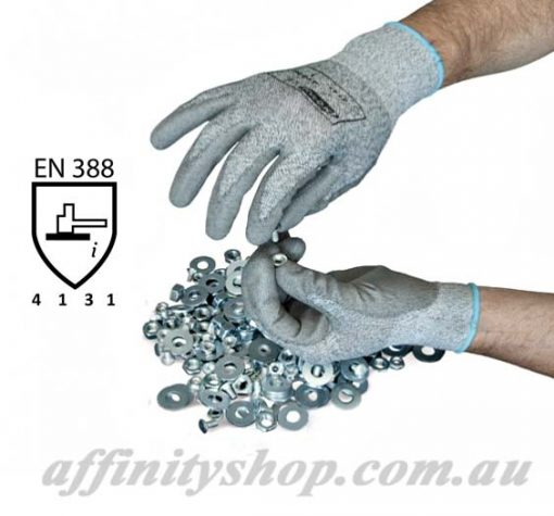 precision pro val nylon work gloves pu coating rcr glove