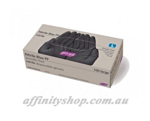 black nitrile gloves pro val blax box of 100