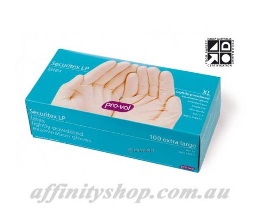 latex gloves securitex disposable pro val glove box