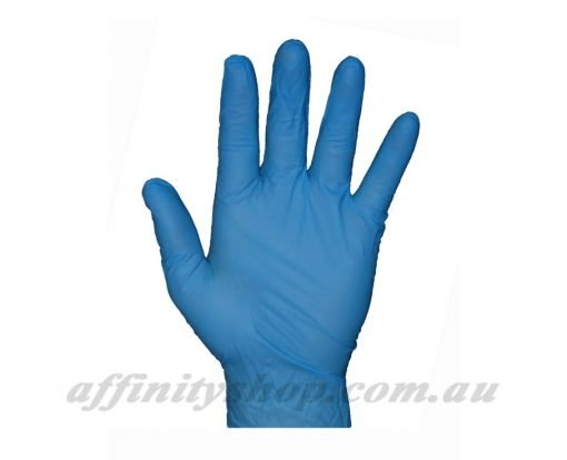blue nitrile disposable powder free gloves pro val blues