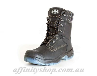 leather work boots bison hileg bigfoot safety boot