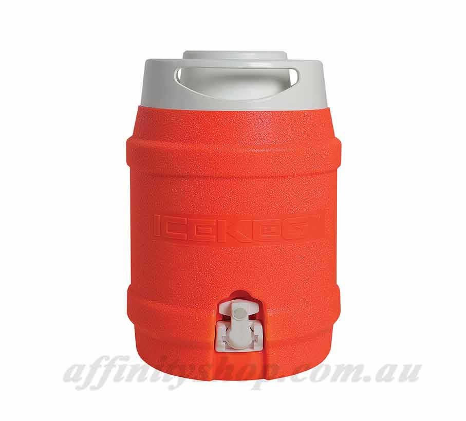 cooler ice keg 5l fluro orange drinks holder
