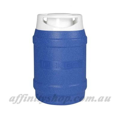 drink cooler ice keg 2.5l blue thermal drink holder