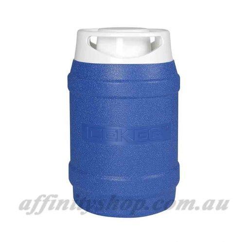 drink cooler ice keg 2.5l blue thermal drink holder