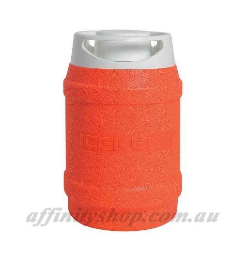 drinks cooler ice keg 2.5l fluro orange thermal drink holder