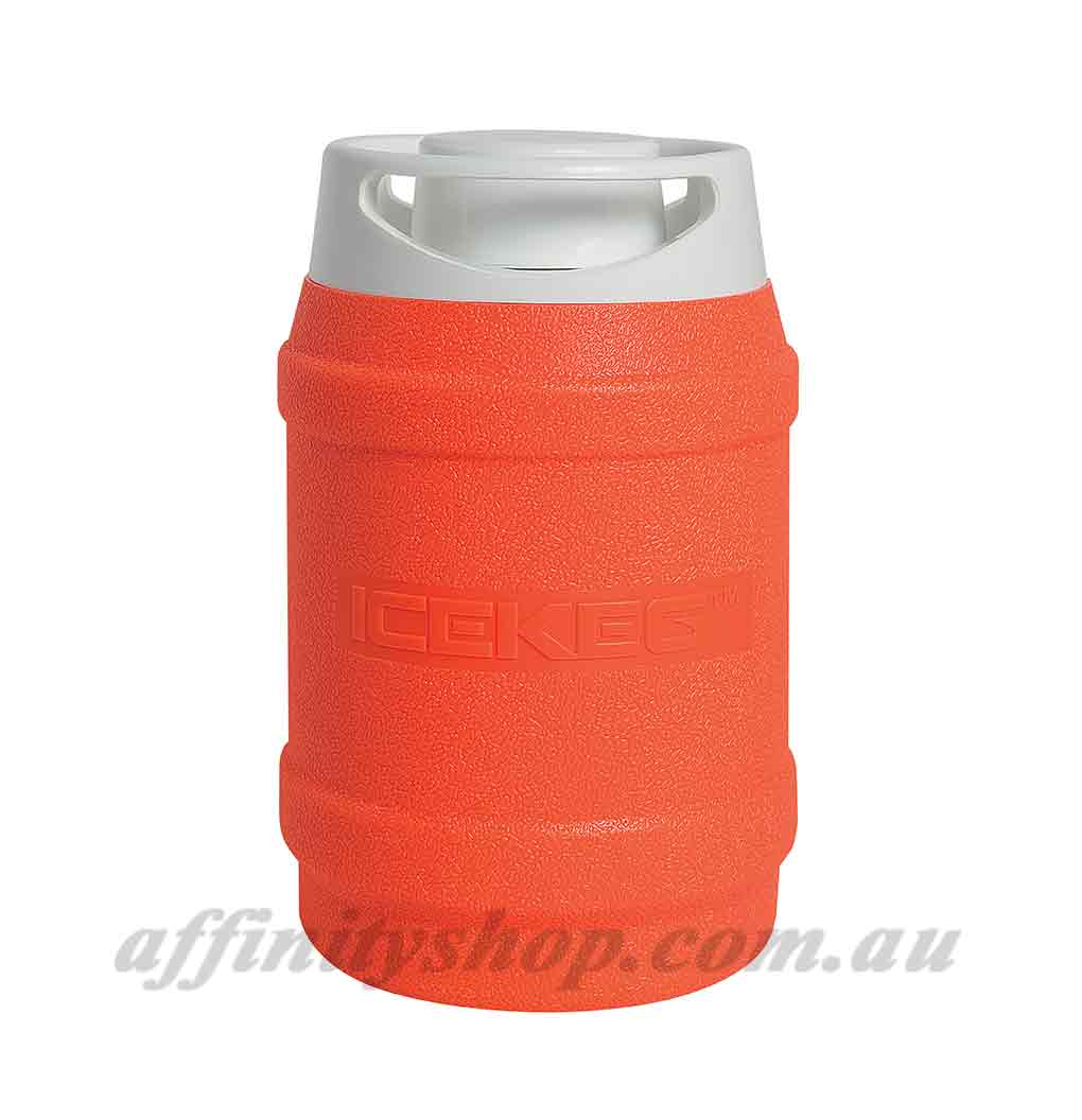 drinks cooler ice keg 2.5l fluro orange thermal drink holder