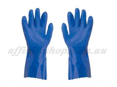 pro val trojan pvc gloves blue chemical rcr glove 41560