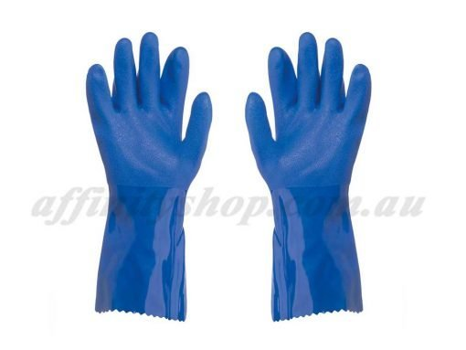 pro val trojan pvc gloves blue chemical rcr glove 41560