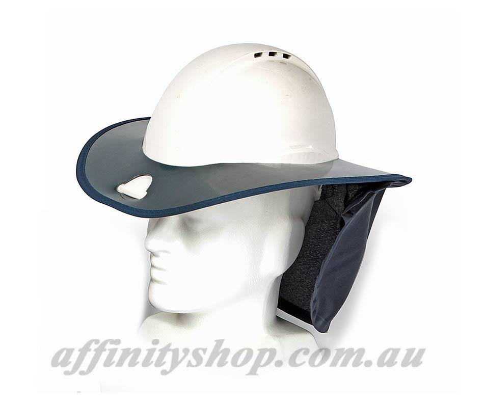 901a56553b5 Snap Brim Hard Hat Shade Brim UV Sun   Rain Protection Helmet Shade