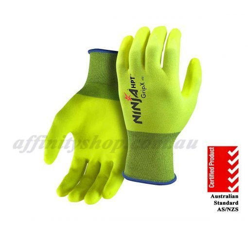 Ninja HPT Hi Vis Work Gloves GripX P4001HV