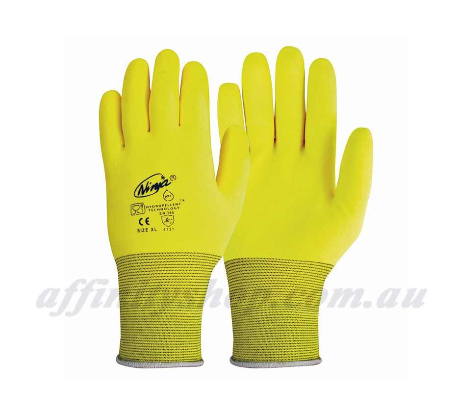 Ninja HPT Hi Vis Gloves P4001HV Work Glove