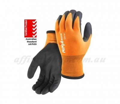 ninja glacier winter work gloves maxim hpt fluro orange winter glove niglacier